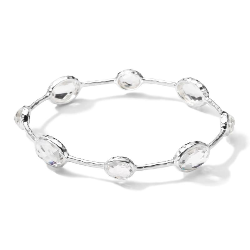 8 Stone Sterling Silver Bangle Image 1