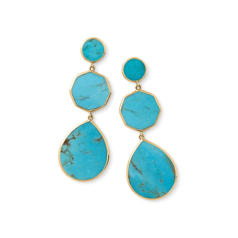 Crazy 8 Turquoise Earrings Image 1