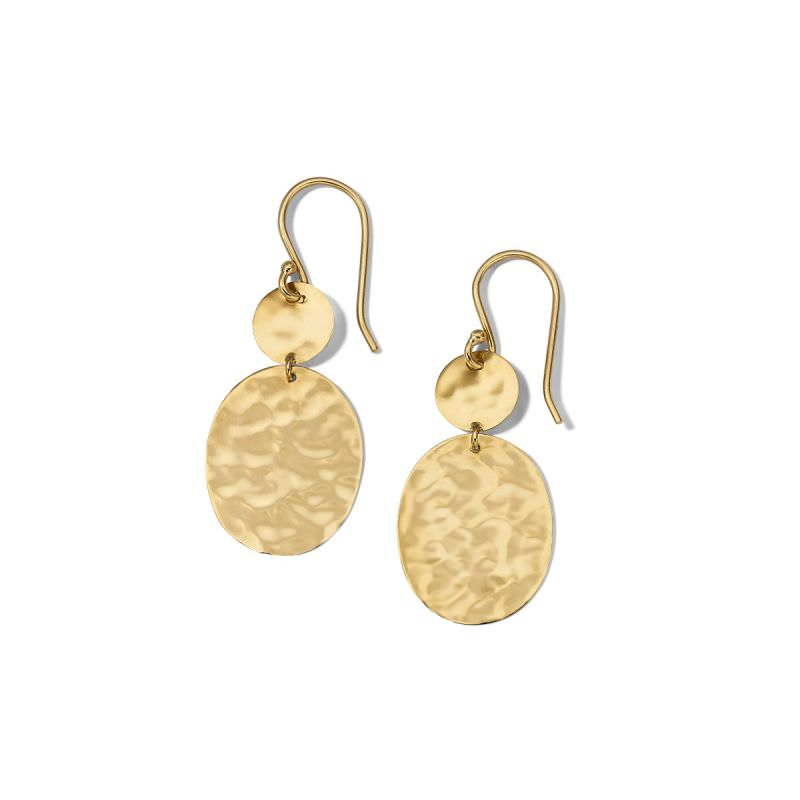 Crinkle Oval Drop Earrings Image 1