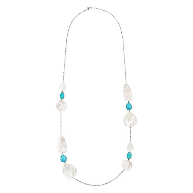 Multi Shape Necklace in Sterling Silver Image 1