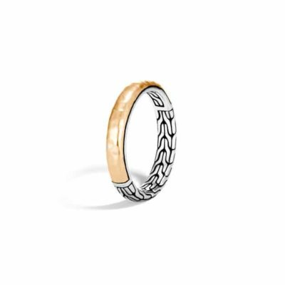 John Hardy Chain Classic Chain Hammered 3.5MM Band Ring Image 1