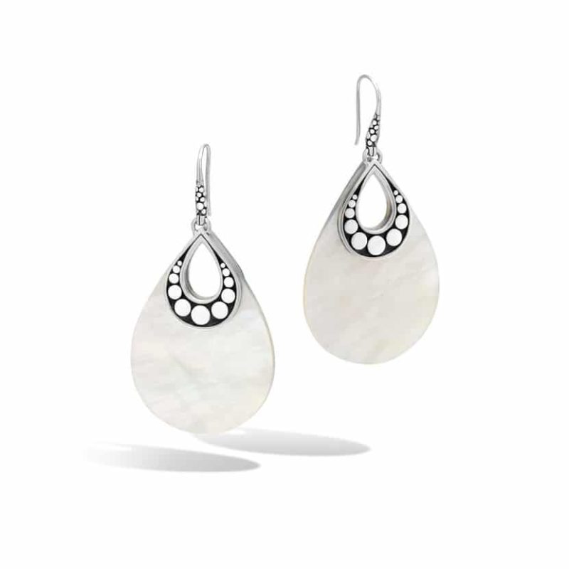 John Hardy Dot Drop Earring with White Mother of Pearl Image 1