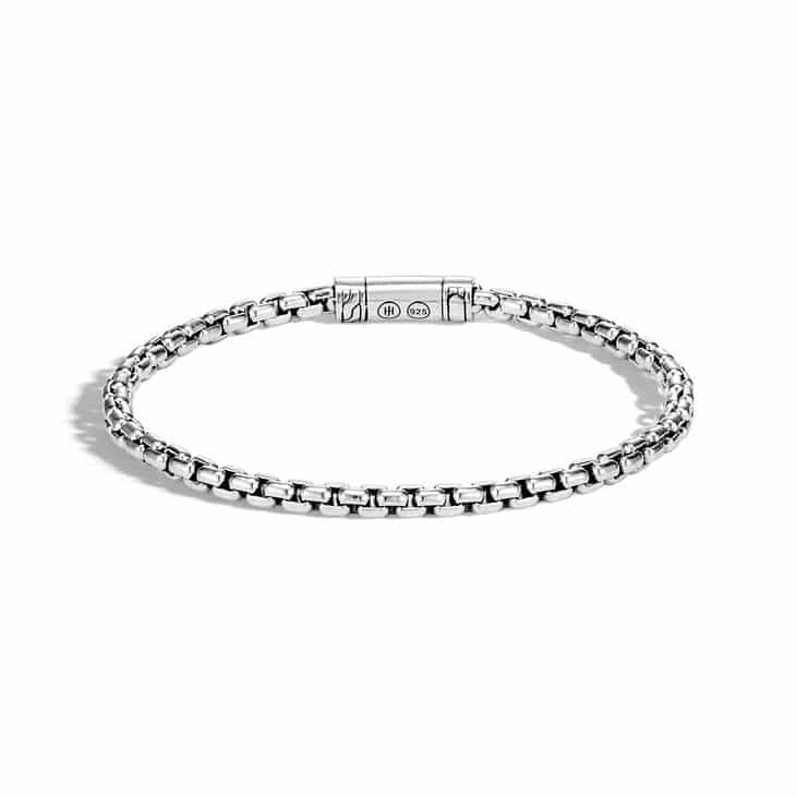 John Hardy Chain 4mm Silver Box Chain Bracelet Image 1