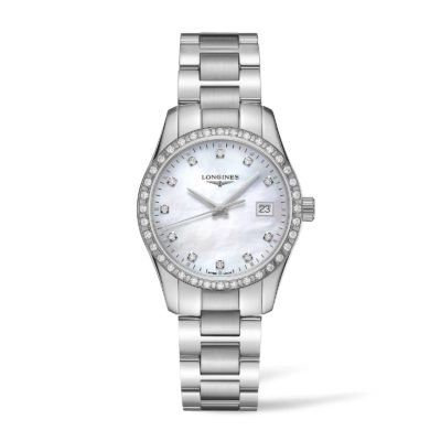 Longines Conqueset Classic Conquest Classic with Mother of Pearl and Diamonds Image 1