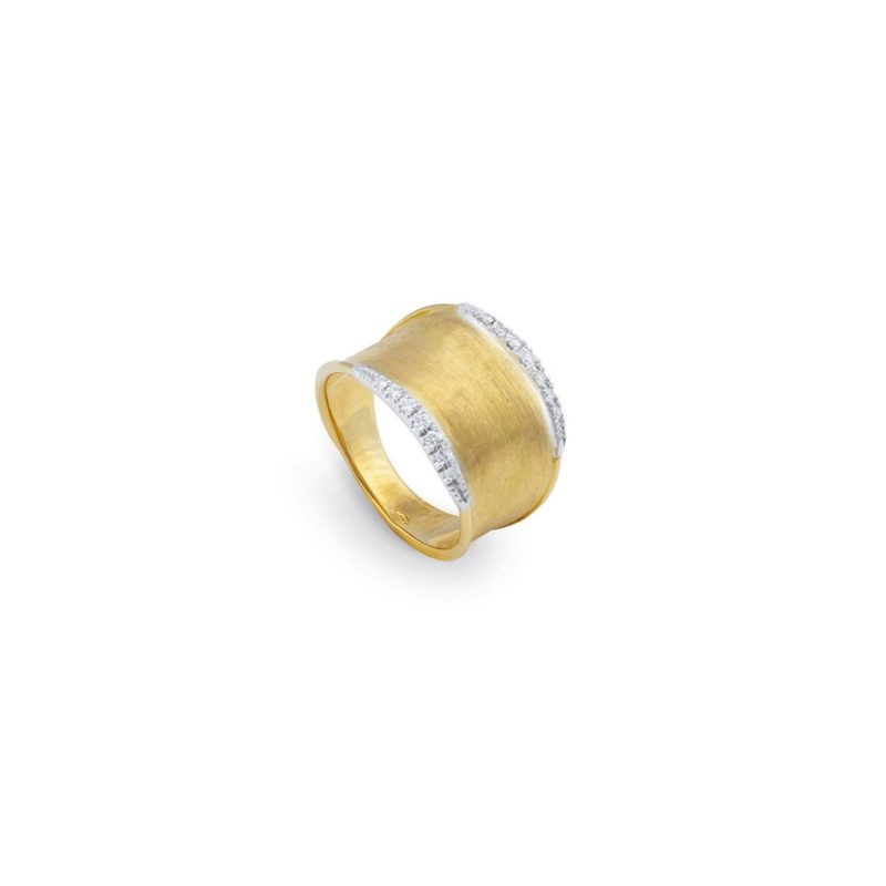 Marco Bicego Lunaria Small Pave Ring Image 1