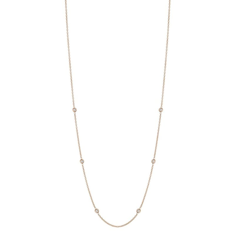 Penny Preville Classic Eyeglass Chain in Rose Gold Image 1