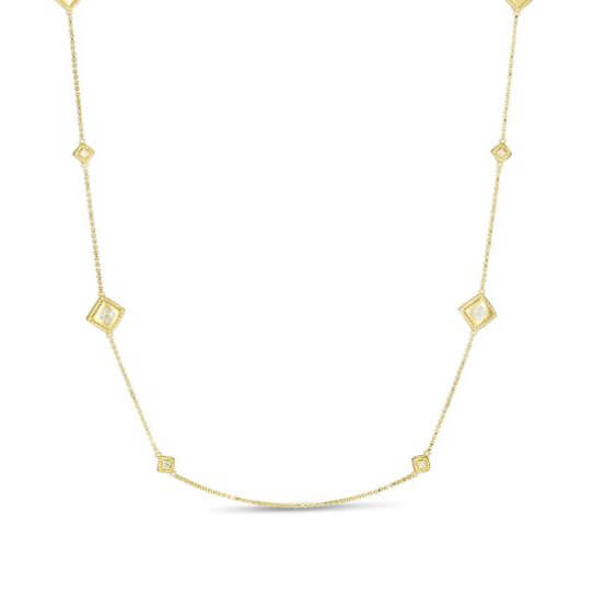 Roberto Coin PALAZZO DUCALE Satin Station Necklace Image 1