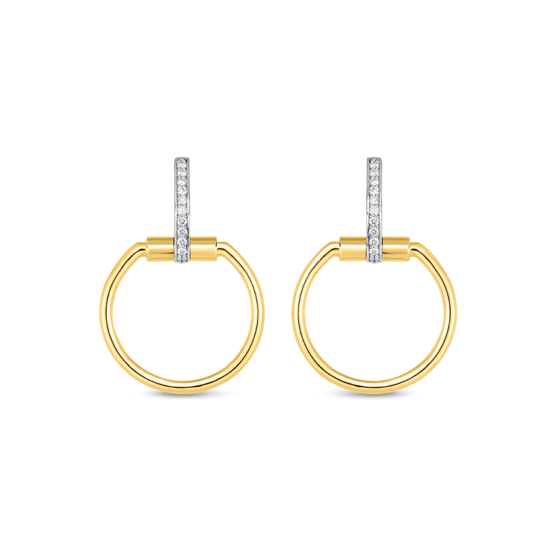 Roberto Coin Classica Parisienne Newly Coined Diamond Drop Earrings Image 1