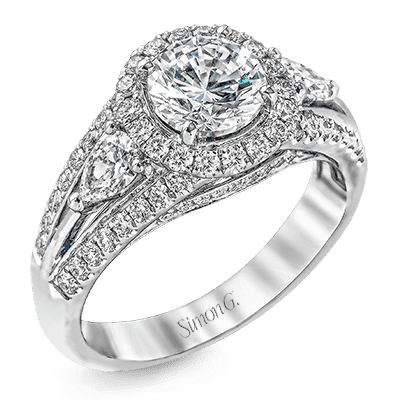 Simon G Passion Semi-Mount with Pear Shaped Diamond Accents Image 1