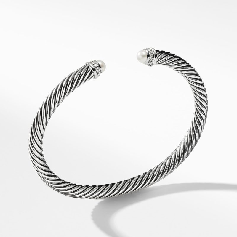 David Yurman Cable Classics Collection® Bracelet with Pearls and Diamonds Image