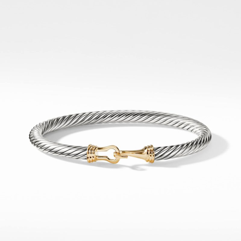 David Yurman Cable Buckle Bracelet with Gold Image 2