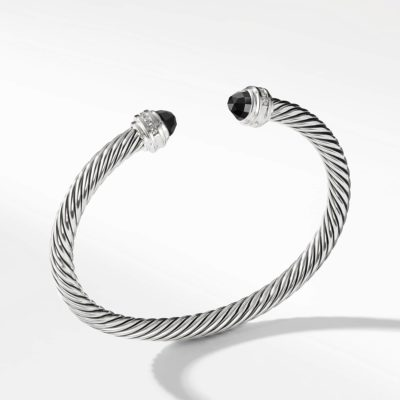 David Yurman Cable Classics Collection® Bracelet with Black Onyx and Diamonds Image