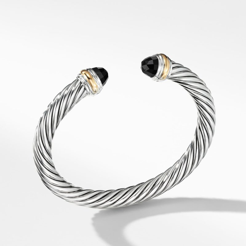 David Yurman Cable Classics Collection® Bracelet with Black Onyx and 14K Gold Image
