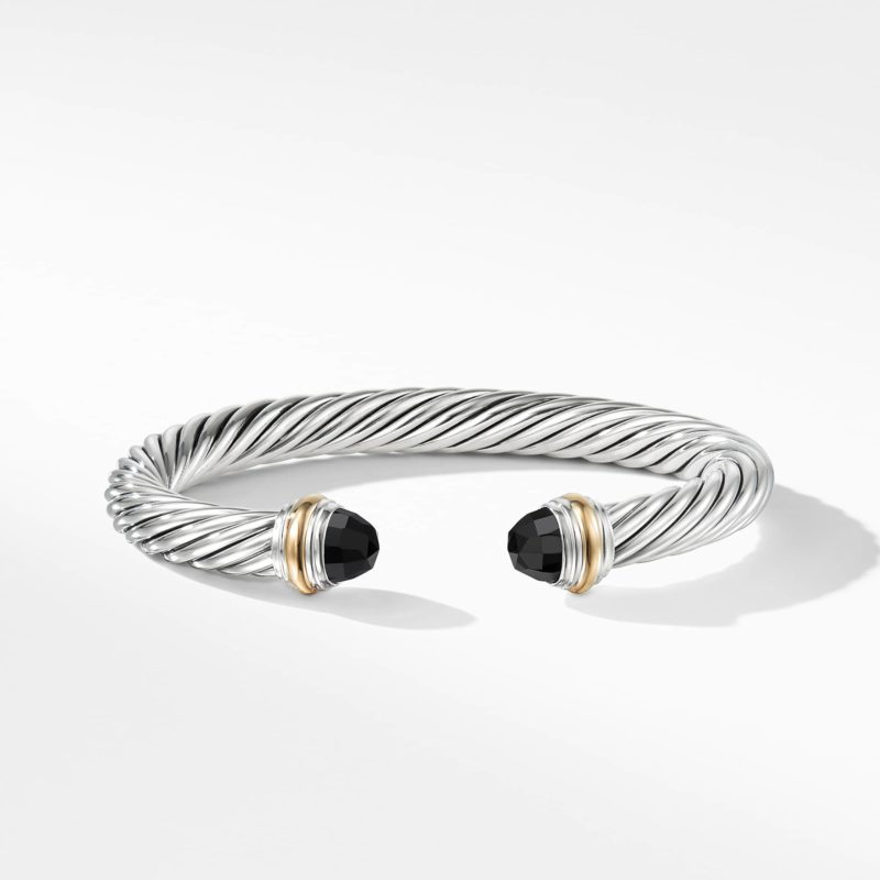 David Yurman Cable Classics Collection® Bracelet with Black Onyx and 14K Gold Image 2