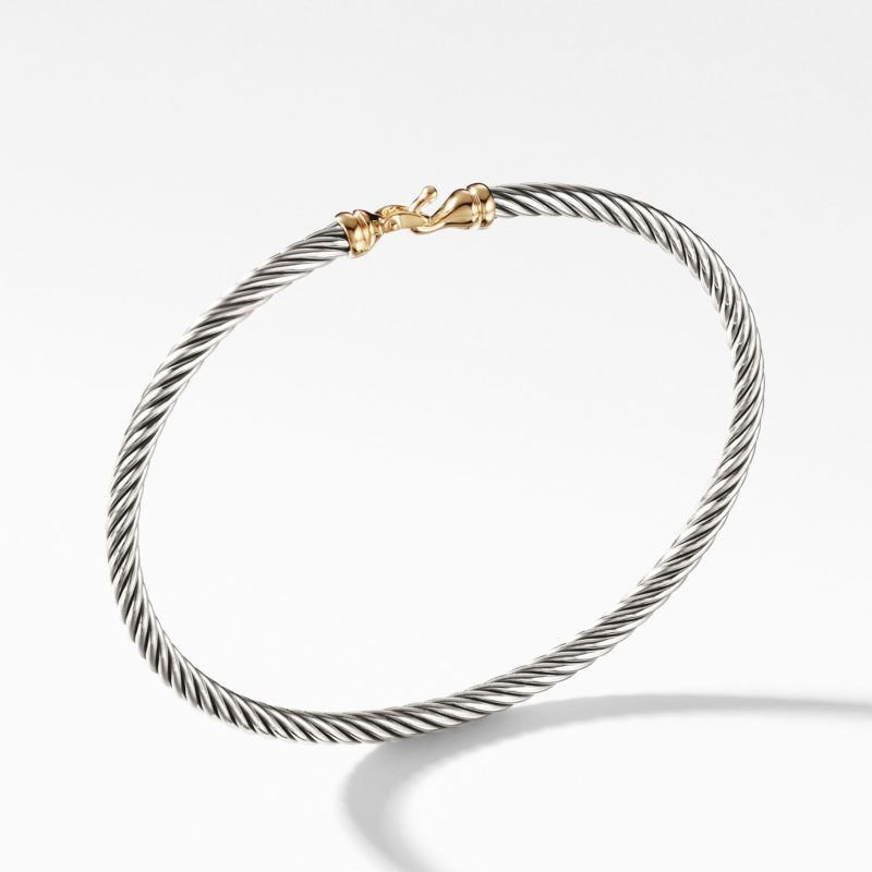 David Yurman Cable Buckle Bracelet with Gold Image