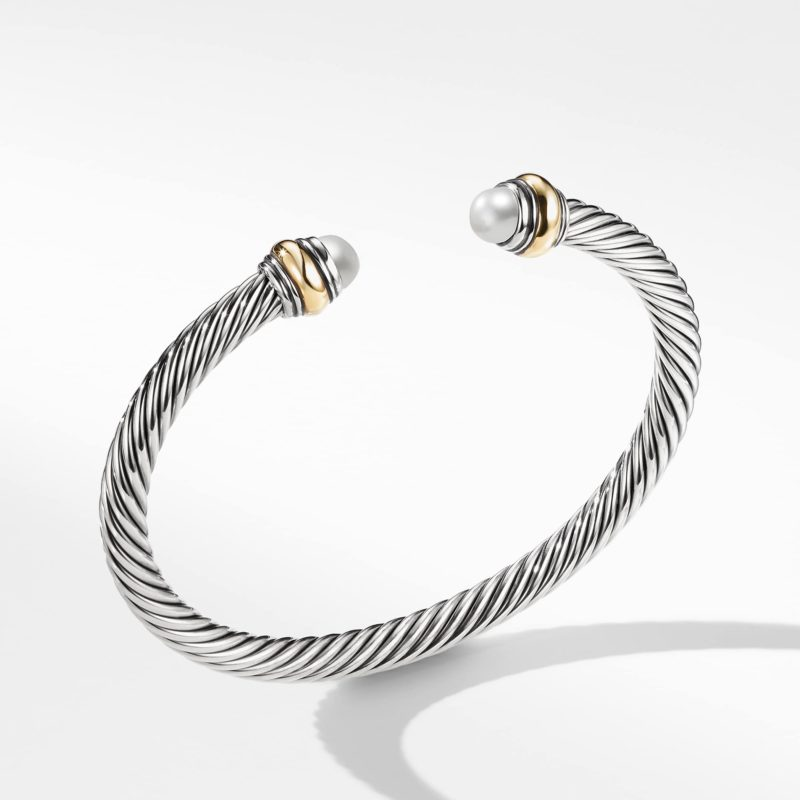 David Yurman Cable Classic Bracelet with Pearl and 14K Gold Image