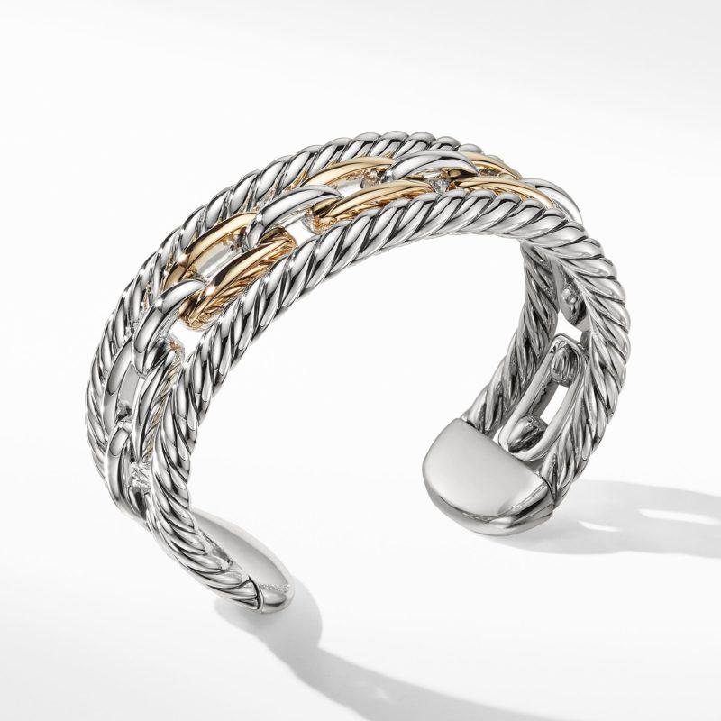David Yurman Wellesley Link Multistack Bracelet with 18K Gold Image 1