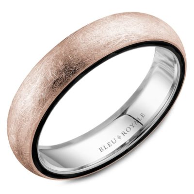Textured Rose Gold Band Image 1