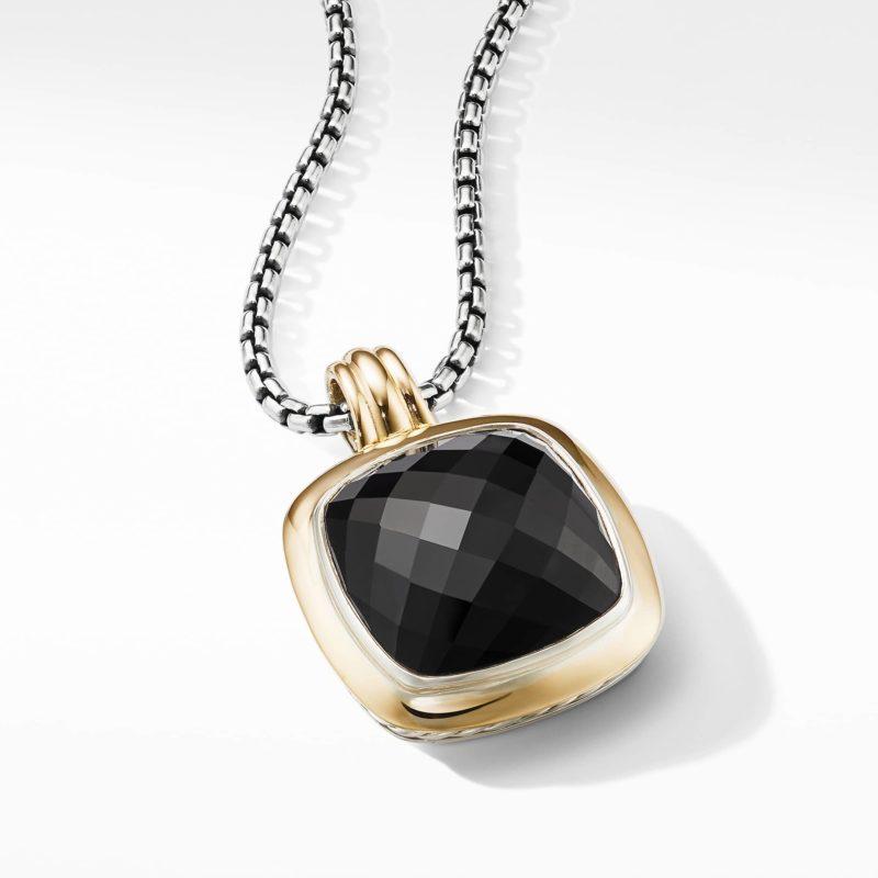 David Yurman Albion® Pendant with 18K Gold and Black Onyx Image 3