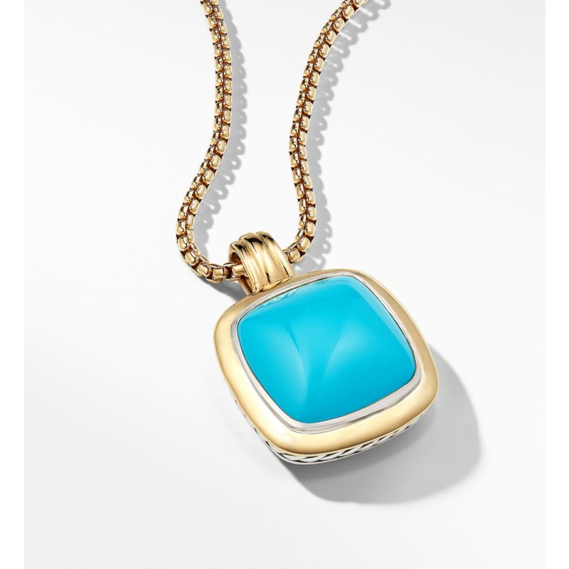 David Yurman Albion® Pendant with 18K Gold and Reconstituted Turquoise Image 3