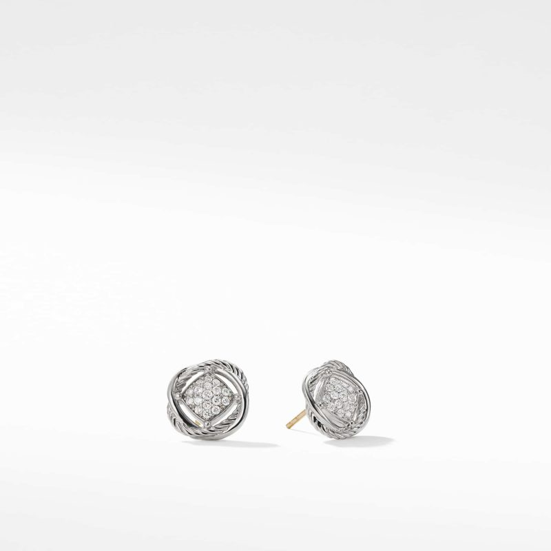 David Yurman The Crossover Collection® Earrings with Diamonds Image