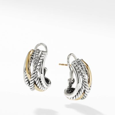 David Yurman Crossover Earrings with Gold Image 1