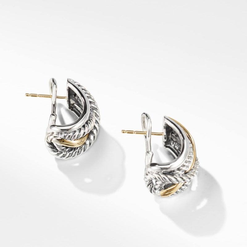 David Yurman Crossover Earrings with Gold Image 2