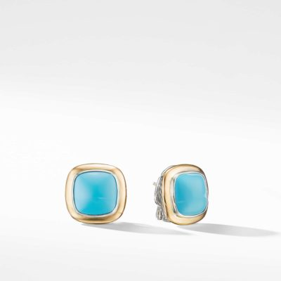 David Yurman Albion® Stud Earrings with 18K Gold and Reconstituted Turquoise Image 1