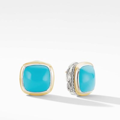 David Yurman Albion® Stud Earrings with Reconstituted Turquoise and 18K Yellow Gold Image 1