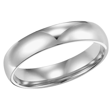 Low Domed Wedding Band Image 1