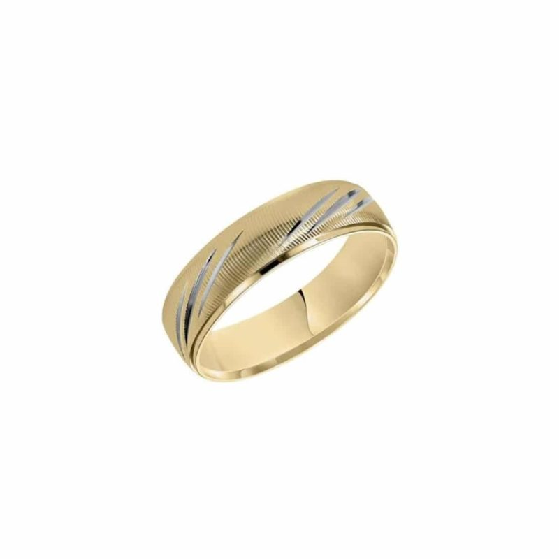 Fredrick Goldman Modern Textured Wedding Band Image 1
