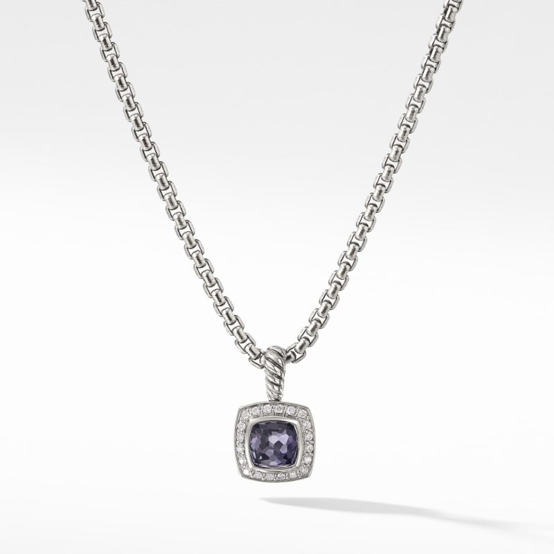 David Yurman Pendant Necklace with Black Orchid and Diamonds Image 1