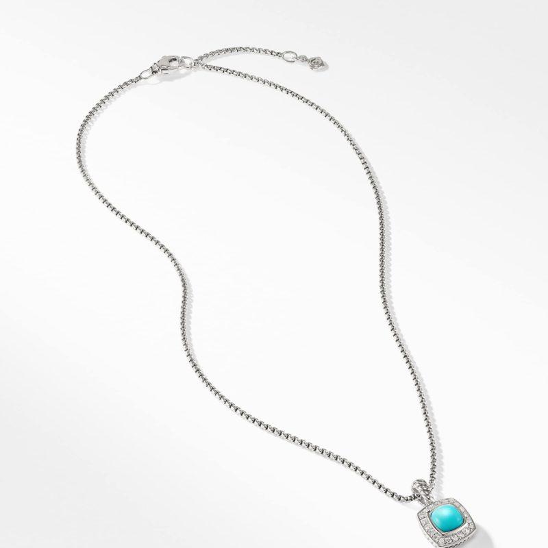 David Yurman Petite Albion® Pendant Necklace with Turquoise and Diamonds Image 2