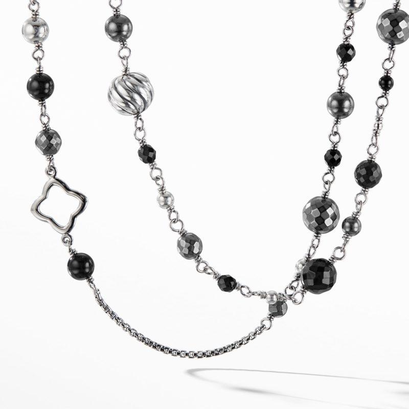 David Yurman Necklace with Black Onyx and Hematine Image 1