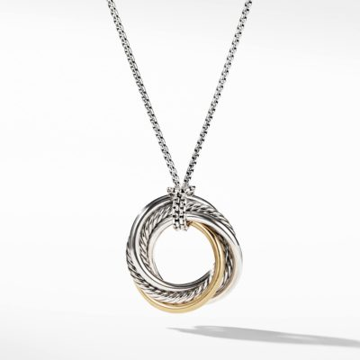 David Yurman Crossover Small Pendant Necklace with Gold Image 1