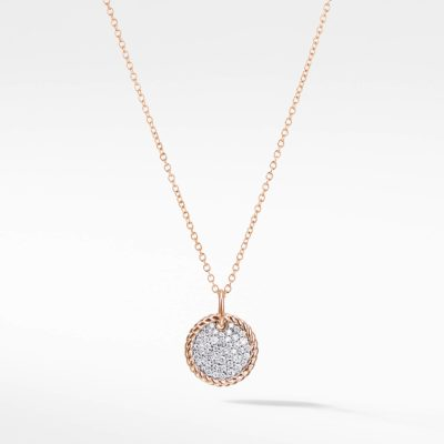 David Yurman Necklace with Diamonds in 18K Rose Gold Image 1