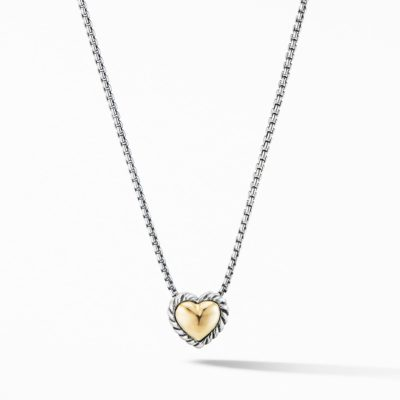 David Yurman Cable Cookie Classic Heart Necklace with 18K Yellow Gold Image