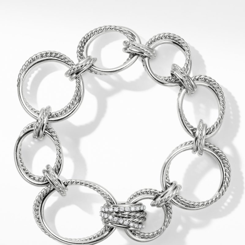 David Yurman Crossover Convertible Statement Necklace with Diamonds Image 3