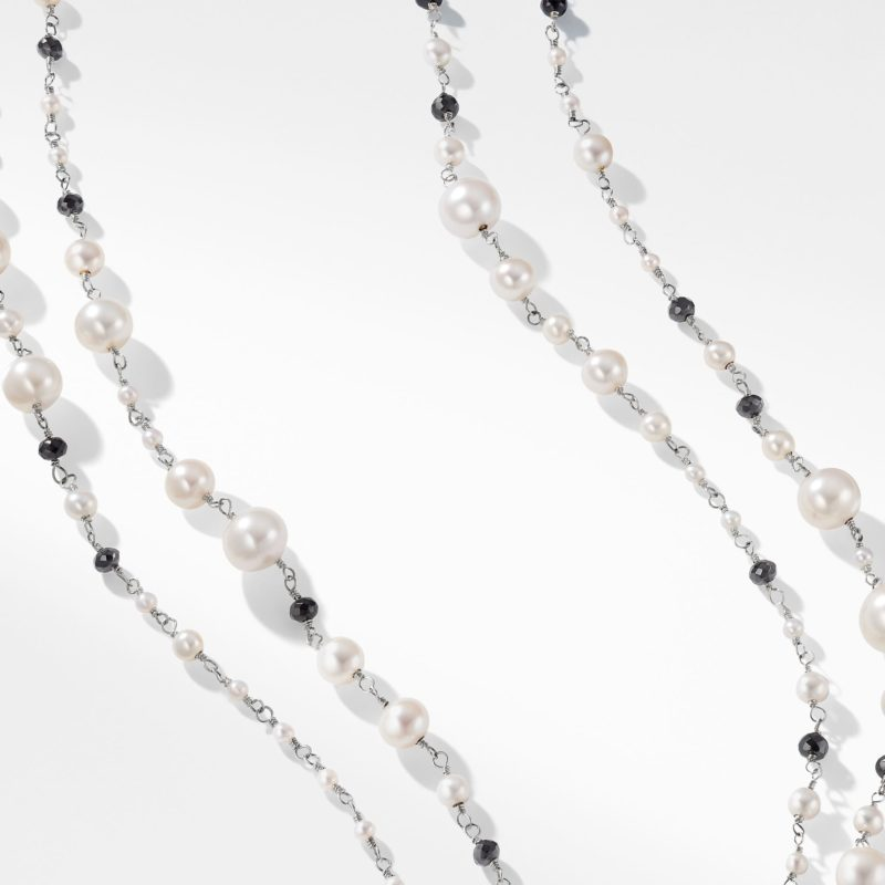 David Yurman Oceanica Pearl and Bead Link Necklace with Pearls and Black Spinel Image 2