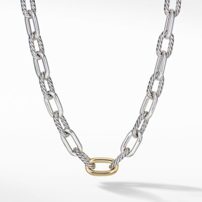 David Yurman DY Madison Large Necklace with 18K Gold