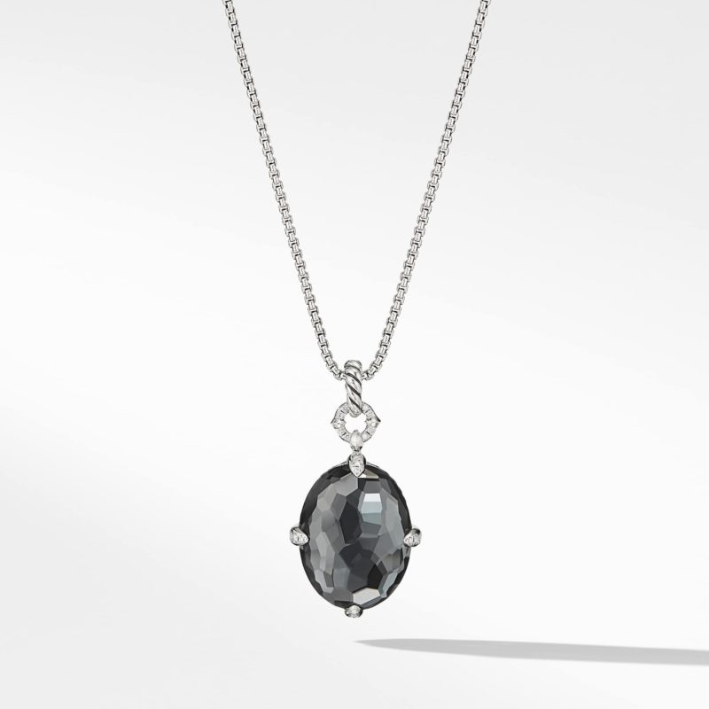 David Yurman Chatelaine® Small Pendant Necklace with Black Orchid Image 1