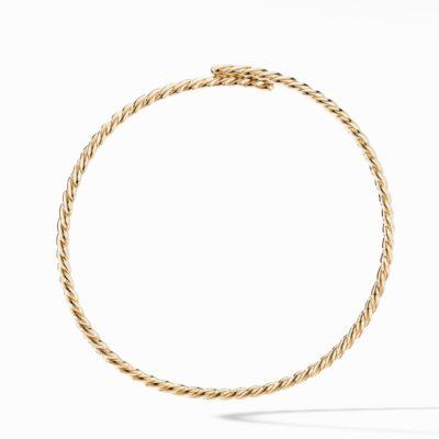 David Yurman Gold Flex Necklace in 18K Yellow Gold Image 1