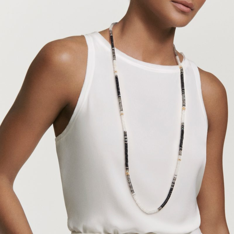 David Yurman Tweejoux Necklace in 18K Gold with Madeira Citrine on Model