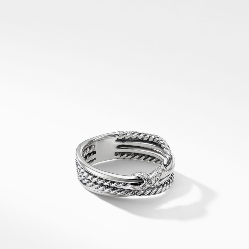 David Yurman X Collection Ring with Diamonds Image