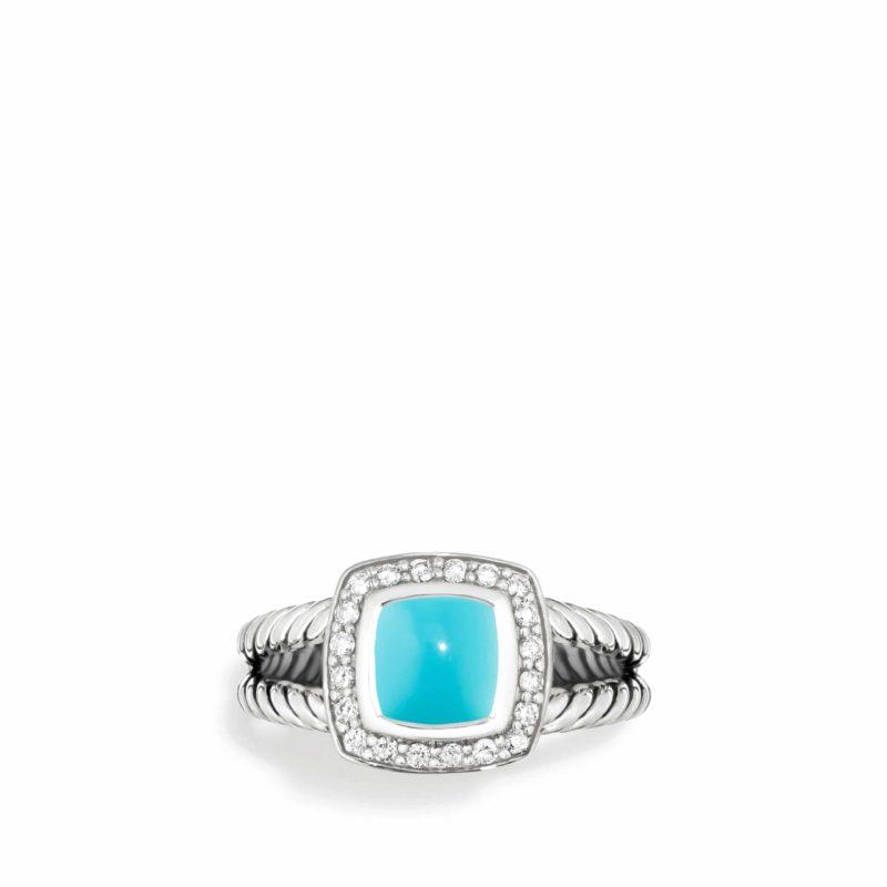 David Yurman Petite Albion® Ring with Turquoise and Diamonds Image 3