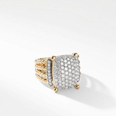 David Yurman Wheaton Ring with Diamonds in Gold Image 1
