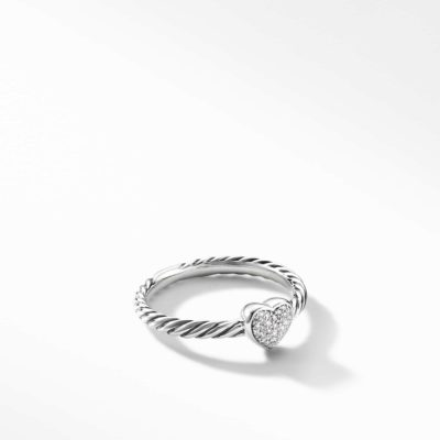 David Yurman Cable Collectibles Heart Ring with Diamonds Image 1