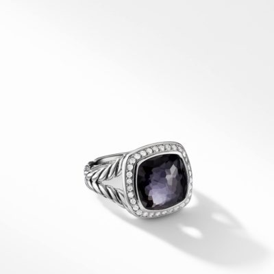David Yurman Albion® Ring with Black Orchid and Diamonds Image