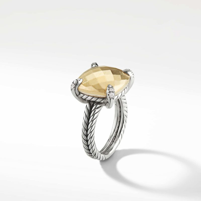 David Yurman Chatelaine® Ring with 18K Gold and Diamonds