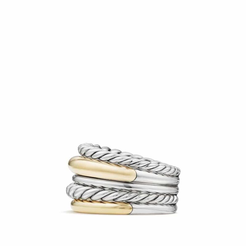 David Yurman Pure Form® Wide Ring with 18K Gold Image 2